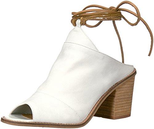 Women White Leather Dress Chinese Cali Laundry Sandal 05WqR