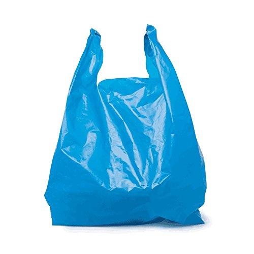 SafePro JSB, 18x10x32-Inch Blue Plastic Jambo T-Shirt Shopping Bags, Polyethylene Grocery Bags, 250-Piece Case