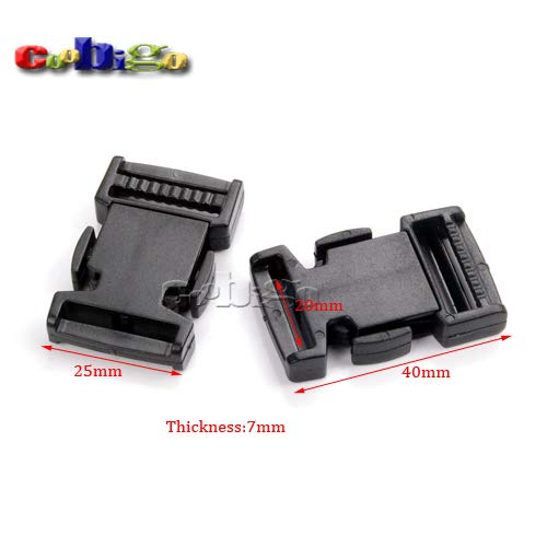 Buckes - 100pcs Pack 3/4(20mm)'' Detach Buckle for Outdoor Sports Bags Students Bags Luggage #FLC367-20