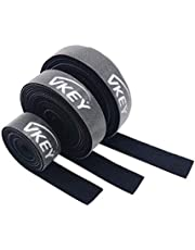 Vkey 3M Cable Ties Reusable Tape Wraps Roll Adjustable Wire Organizer Cord Rope Holder with Fastening Hook Loop for Computer Cable Management