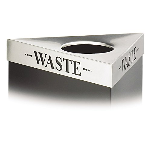 Safco Products 9560WA Trifecta Trash Can Lid, (Trifecta Base sold separately), Stainless Steel