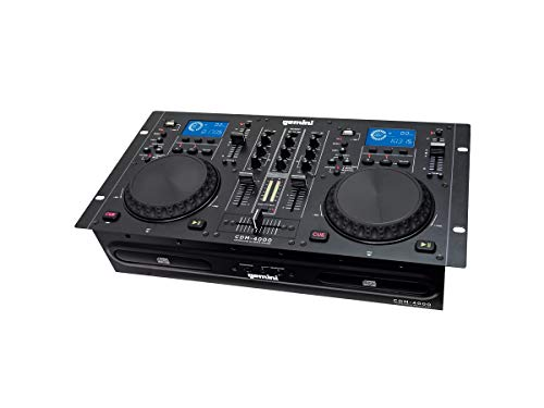 Gemini CDM Series CDM-4000 Professional Audio CD/MP3/USB DJ Media Player Console with Dual Jog Wheel