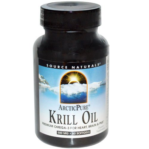 Source Naturals ArcticPure® Krill Oil -- 500 mg - 60 Softgels - 2PC