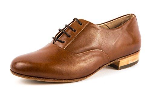 El Naturalista - Zapatos de cordones de Piel Lisa para mujer, color negro, talla 38