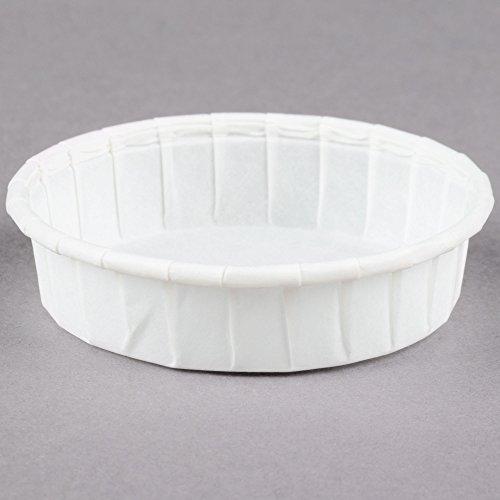 Dart Solo SCC100S 1 oz. Squat White Paper Souffle / Portion Cup - 250/Pack