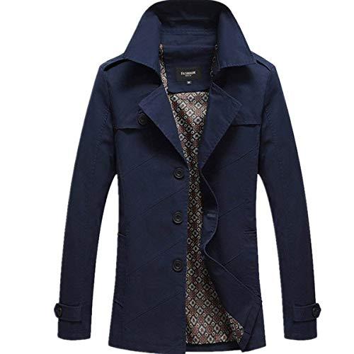 Warm Pile Cappotto Kaiert Uomo Parka Ragazzi Suit Invernale Trench Elegante Long Jacket Da In Giacca Casual Blau Essenziale Jack q6v4Rxn7