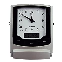 Travel Alarm Clock with Dual Display (Analog/Digital).
