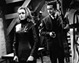 THE AVENGERS PATRICK MACNEE HONOR BLACKMAN 16X20 B&W PHOTO