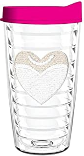 product image for Smile Drinkware USA-BRIDE HEART 16oz Tritan Insulated Tumbler With Lid and Straw