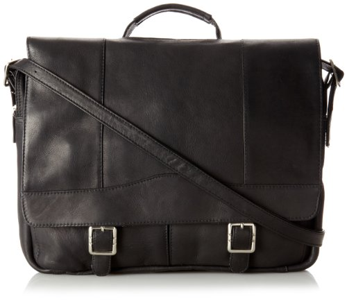 David King & Co. Porthole Brief Case Simple, Black, One Size ()
