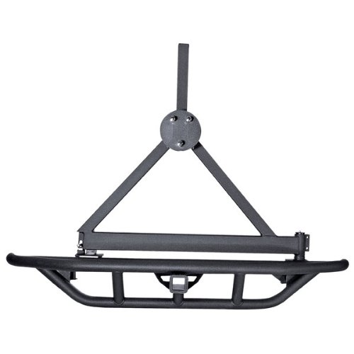 Outland 391150360 Black RRC Tire Carrier (no bumper) for Jeep YJ/TJ Wrangler
