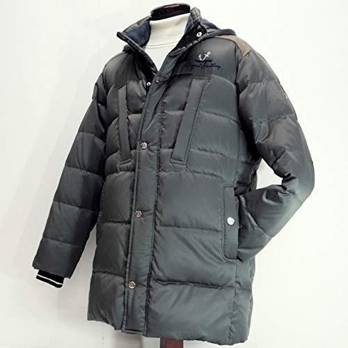 40584 秋冬 ダウンコート ハーフコート フード取り外し可 カーキ(緑) サイズ 50(LL) CAPRI カプリ 紳士服 メンズ 男性用