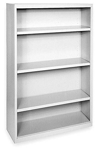 - 36' x 18' x 52' Elite Series Stationary Bookcase with 4 Shelves, Dove Gray