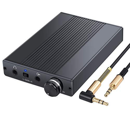 Proster USB DAC DSD Headphone Amplifier Portable Amp 3.5mm Audio Rechargeble HiFi Earphone Amplifier for iPhones iPod MP3 MP4 Digital Player Computers (Best Portable Usb Dac)