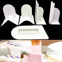 Cake Smoother 5pcs/set, Fondant Smoothing Tool Cake Decorate Smoother KOOTIPS (5pcs Cake Smoother)