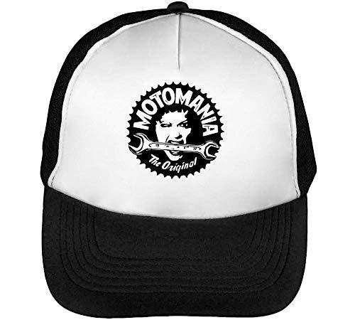 Motomania The Original Gorras Hombre Snapback Beisbol Negro Blanco
