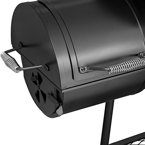 Royal Gourmet Charcoal Grill with Offset Smoker, 30'' L