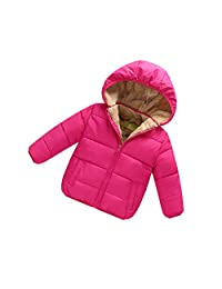 AHZZY Toddler Baby Winter Jacket Kids Clothes Hooded Coats Girls Boy Outerwear
