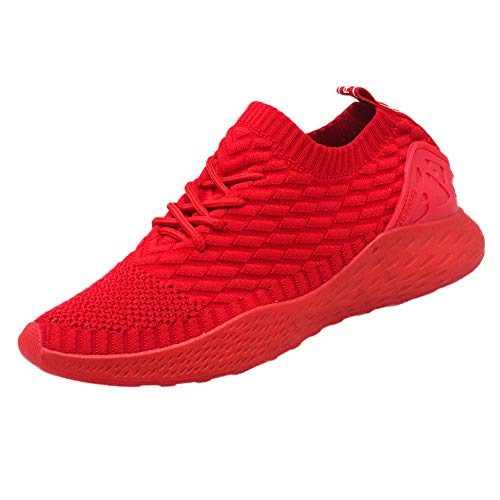 - kaifongfu Men Breathable Sneakers Sport Shoes Lightweight Mesh Shoes (Red,43)