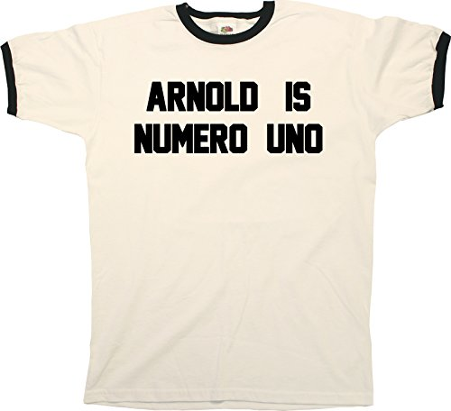Arnold Is Numero Uno Funny Mens RINGER T-Shirt Retro (Arnold Is Numero Uno T-shirt)