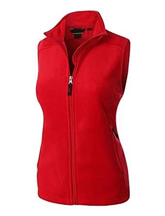 LE3NO Premium Womens Performance Fleece Thermal Zip Up Jacket Vest