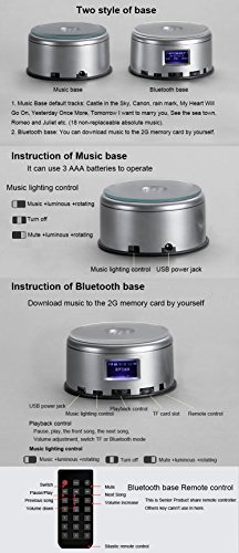 LIWUYOU Personalized Custom Photo and Text Colorful Romantic Crystal Music Box, Engrave You're my only love, Heart Couple, Bluetooth base by LIWUYOU (Image #6)