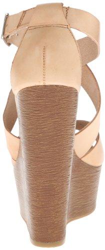 Chinese Laundry Women's Java Leather Wedge Sandal Hazelnut iBSMM