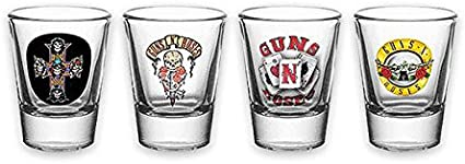 Pack 4 vasos de chupito Guns N Roses: Amazon.es: Hogar