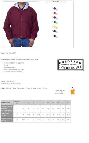 Colorado Timberline Men's Boulder Hooded Fleece Jacket-M (Yellow)
