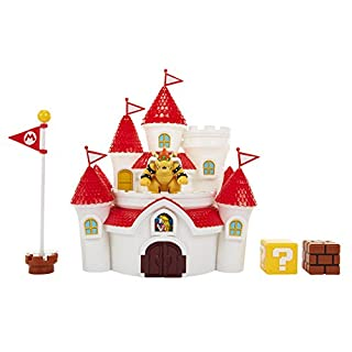 "Nintendo Super Mario Mushroom Kingdom Castle Playset with Exclusive 2.5"" Bowser Figure"