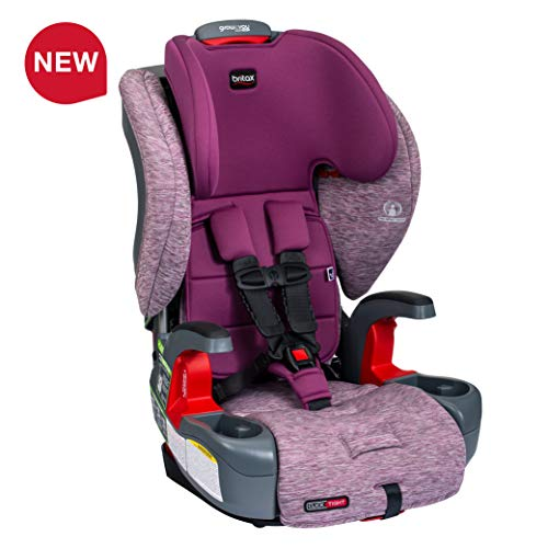 Britax Grow with You ClickTight Harness-2-Booster Car Seat – 2 Layer Impact Protection – 25 to 120 pounds, Mulberry Newer Version of Frontier