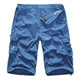 Alimao Clearance Sale Men's Pants Personality Casual Outdoors Pocket Beach Trouser Cargo Shorts Pant