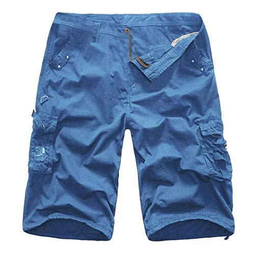 Alimao Clearance Sale Men's Pants Personality Casual Outdoors Pocket Beach Trouser Cargo Shorts Pant by Alimao