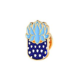 U.Buy Women Girls 6 PCS Cartoon Cute Enamel Brooch Set Plant Brooch Pin Badge for Clothing Bags Backpacks