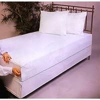 Soft Vinyl Cot Size Mattress Cover, Zips around the mattress
