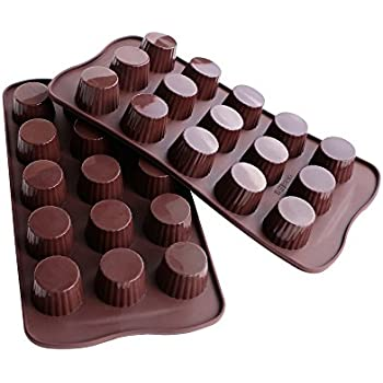 Webake 2-pack Silicone Chocolate Molds, Candy Molds, Mold for Chocolate