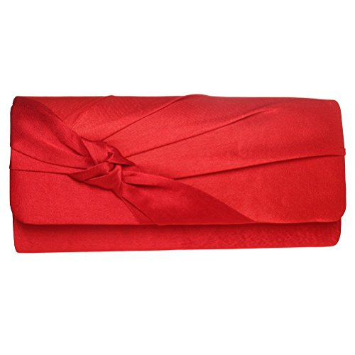 Red Silk Clutch Bag - 7