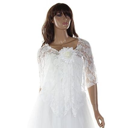Gleader Chal Estola Bolero Encaje Vestido Boda Fiesta Beige para Mujer