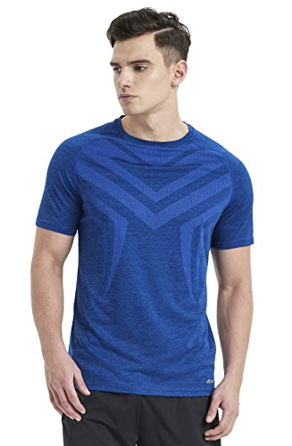 Akilex Mens Running Dry Fit T-Shirt Athletic Outdoor Short Sleeve Comfortable Top