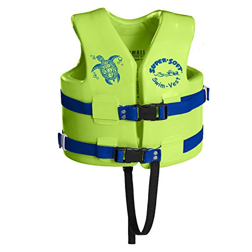 Texas Rec 1020539 Supersoft Swim Life Vest X-Small 21-23in. - Kool Lime Green