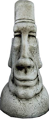 DEGARDEN AnaParra Figura Decorativa Cabeza de Pascua Moai de hormigón-Piedra para jardín o Exterior 52cm.: Amazon.es: Jardín