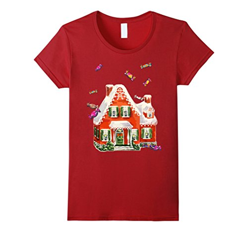 Womens Candy Gingerbread House Ugly Christmas Sweater T S...