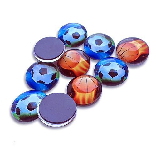 Aibily Football Magnets, Basketball and Football Refrigerator Magnets Funny Magnets for Office Whiteboard, School Lockers Accessories Set-10 Pack]()