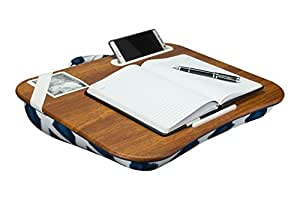 Amazon Com Lap Desk Lapgear Designer Navy Ikat Fits Up