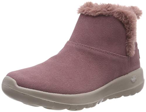 Para go the On Mujer Botines bundle Up Skechers Rosa 6Ufzcwq1A