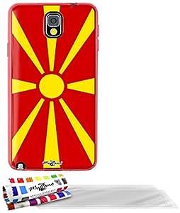 """Carcasa Flexible Ultra-Slim SAMSUNG GALAXY NOTE 3 / N9000 de exclusivo motivo [Macedonia Bandera] [Roja] de MUZZANO  + 3 Pelliculas de Pantalla """"UltraClear"""" + ESTILETE y PAÑO MUZZANO REGALADOS - La Protección Antigolpes ULTIMA, ELEGANTE Y DURADERA para su SAMSUNG GALAXY NOTE 3 / N9000"""
