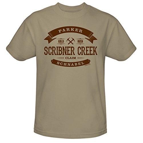 gold-rush-scribner-creek-unisex-t-shirt-sand