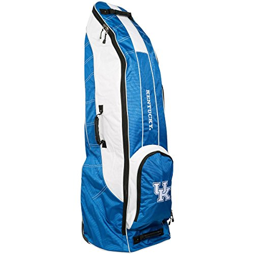 Team Golf NCAA Kentucky Wildcats Travel Golf Bag, High-Impact Plastic Wheelbase, Smooth & Quite Transport, Includes Built-in Shoe Bag, Internal Padding, ID Card Holder ()