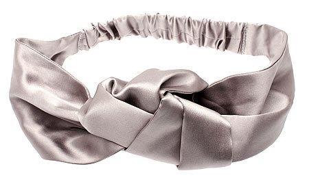 L. Erickson USA Knot Turban - 100% Silk Charmeuse Silver by L. Erickson USA