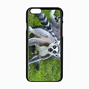 iPhone 6 Black Hardshell Case 4.7inch lemur color eyes grass Desin Images Protector Back Cover